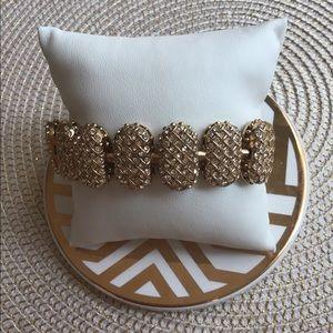 Beautiful Talbots Pave Gold Bracelet!